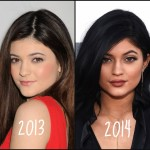 Kylie Jenner before and after from thegloss.com