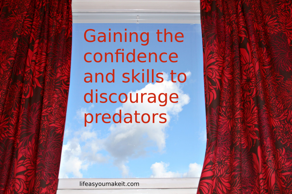 Gaining the confidence and skills to discourage predators