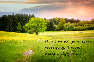 Don't waste your time worrying. It won't make a difference.